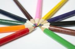 Lápices multicolores Imagenes de archivo