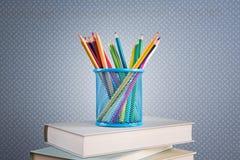 Lápices multicolores fijados Imagenes de archivo