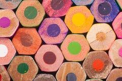 Lápices posteriores del color Fotografía de archivo libre de regalías