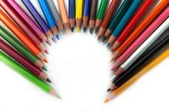 Lápices que crean un círculo Fotos de archivo libres de regalías