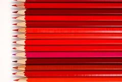 Lápices rojos Fotografía de archivo libre de regalías
