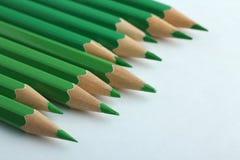 Lápices verdes Fotografía de archivo libre de regalías