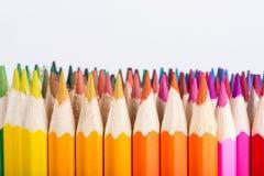 Lápices verticales derechos del color Fotografía de archivo libre de regalías