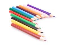 Lápices vivos del color Imágenes de archivo libres de regalías