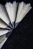Lápices y borradores Fotos de archivo