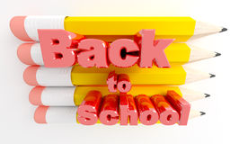 Lápices y de nuevo a escuela Fotos de archivo