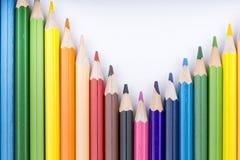 Lápices y dibujo del color Fotos de archivo libres de regalías