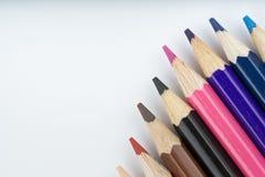 Lápices y dibujo del color Imagenes de archivo