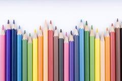 Lápices y dibujo del color Fotografía de archivo libre de regalías