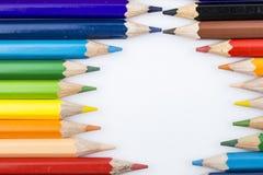 Lápices y dibujo del color Imágenes de archivo libres de regalías