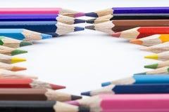 Lápices y dibujo del color Imagen de archivo