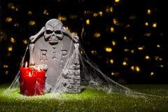 Lápida mortuaria de Halloween Imagen de archivo libre de regalías