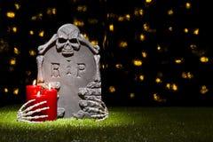 Lápida mortuaria de Halloween Imagen de archivo