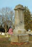 Lápida mortuaria de un soldado de la guerra civil Foto de archivo libre de regalías