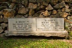 Lápida mortuaria del cementerio británico en Katmandu, Nepal Fotografía de archivo