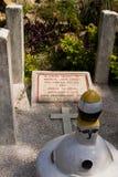 Lápida mortuaria del cementerio británico en Katmandu, Nepal Fotografía de archivo libre de regalías