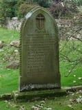 Lápida mortuaria del naufragio en Lindisfarne la isla santa Fotografía de archivo libre de regalías
