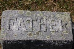 Lápida mortuaria del ?padre? Foto de archivo