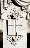 Lápida mortuaria del padre/de la madre Fotografía de archivo libre de regalías