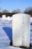 Lápida mortuaria en Arlington Imágenes de archivo libres de regalías