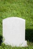 Lápida mortuaria en blanco Fotografía de archivo
