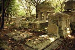 Lápida mortuaria vieja imagen de archivo