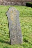 Lápida mortuaria vieja Fotografía de archivo