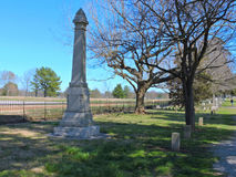 Lápida mortuoria confederada del campo de batalla Imágenes de archivo libres de regalías