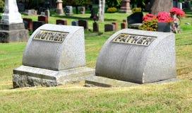 Lápida mortuoria de la familia foto de archivo libre de regalías