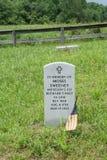 Lápida mortuoria de Moses Sweeney Fotografía de archivo libre de regalías