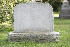 Lápida mortuoria en blanco Fotos de archivo libres de regalías