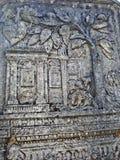Lápida mortuoria judía (Matzevah) imagen de archivo