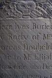 Lápida mortuoria muy vieja Imagen de archivo