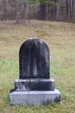 Lápida mortuoria negra Foto de archivo