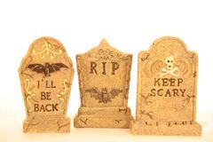 Lápidas mortuarias fotos de archivo libres de regalías