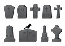 Lápidas mortuarias Fotografía de archivo