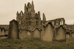 Lápidas mortuarias de Whitby Fotos de archivo libres de regalías