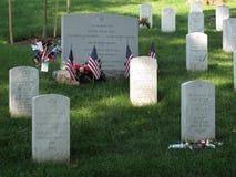 Lápidas mortuarias del cementerio de Arlington Imagen de archivo