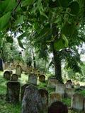 Lápidas mortuarias en cementerio Imagen de archivo libre de regalías