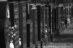 Lápidas mortuorias Fotos de archivo libres de regalías