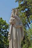 Lápide da escultura no cemitério de Lychakiv em Lviv Ucrânia Fotografia de Stock Royalty Free
