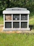Lápide de Meyers que descansa o bosque do carvalho de PlaceIn imagem de stock