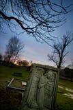 Lápide do cemitério foto de stock