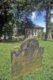Lápide na frente da casa de paróquia memorável da igreja de Cristo na cidade velha Alexandria, Alexandria, Washington, C.C. Imagens de Stock