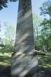 Lápide no cemitério de Monticello, casa de Thomas Jefferson, Charlottesville, Virgínia Fotografia de Stock