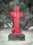 Lápide no cemitério - Turquia imagens de stock royalty free