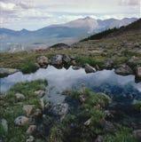 Lápide Ridge e Front Range, Ute Trail, Rocky Mountain National Park, Colorado Fotografia de Stock