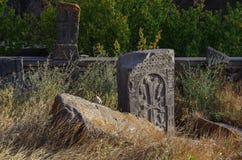 A lápide velha em Armênia Foto de Stock Royalty Free