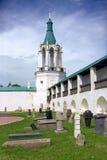 Lápide yakovlevsky da torre de vigia do monastério do salvador de Rostov Imagem de Stock Royalty Free