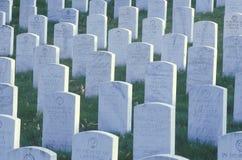 Lápides, cemitério nacional de Arlington, Washington, D C imagem de stock